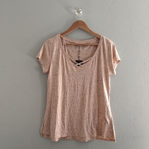 NWT Calia By Carrie Underwood Front Strap Tee